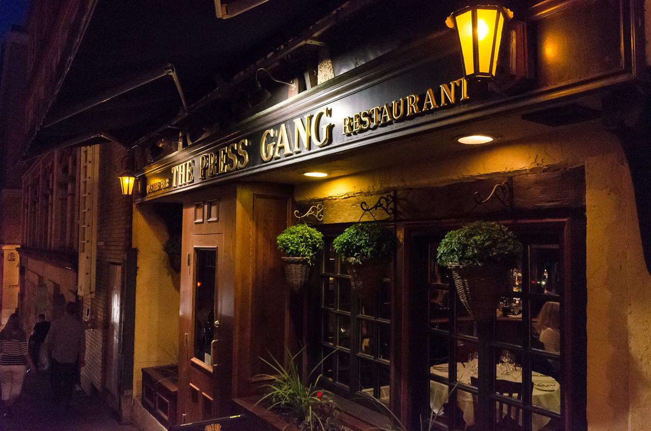 The Press Gang Restaurant.