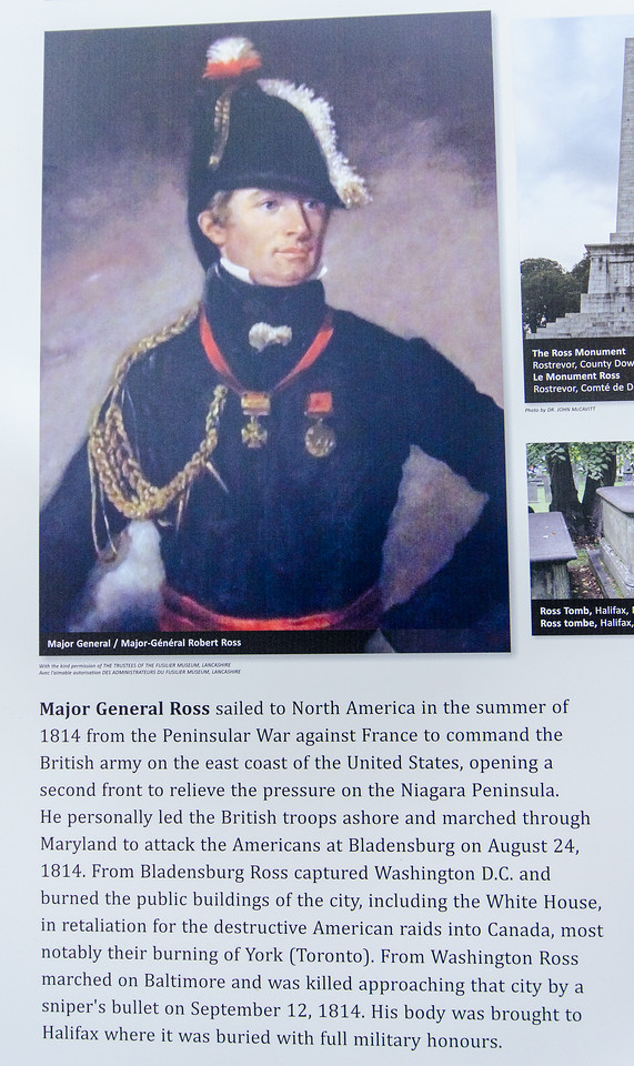Major General Ross.  This is the guy that burned down the White House in 1814.