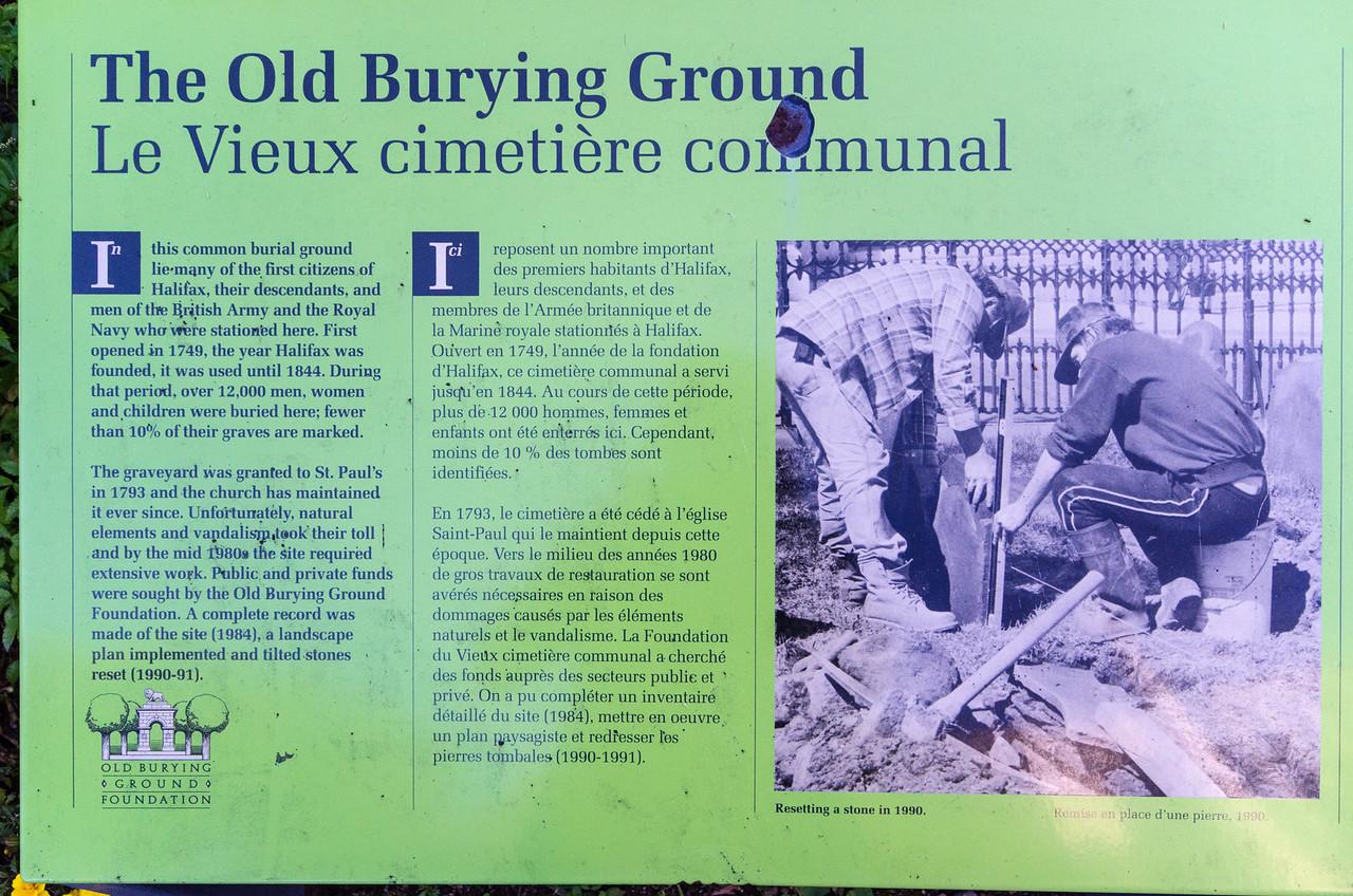 The Old Burying Ground, Halifax.