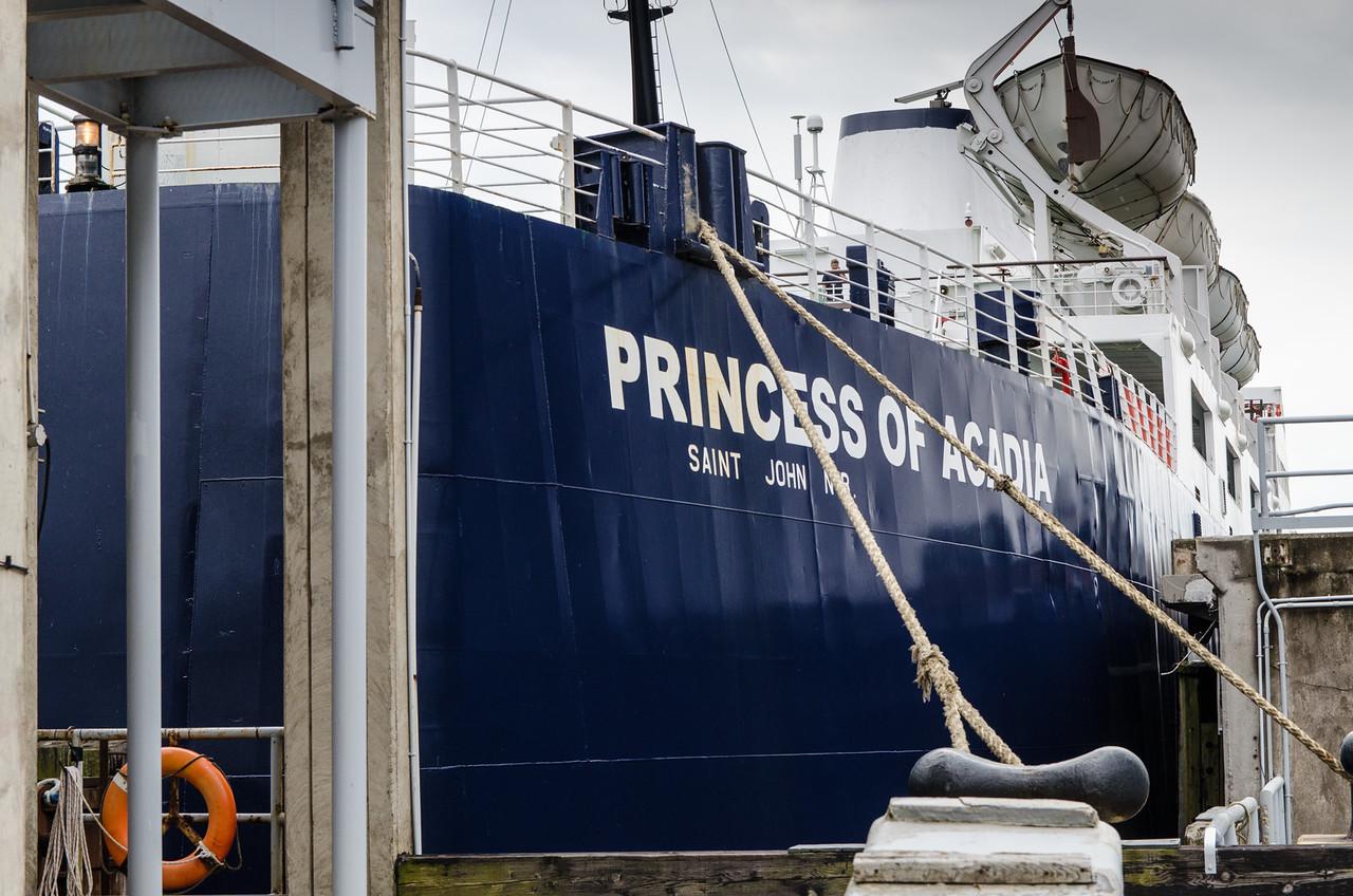 Waiting to board the Princess of Acadia to St John's, New Brunswick.