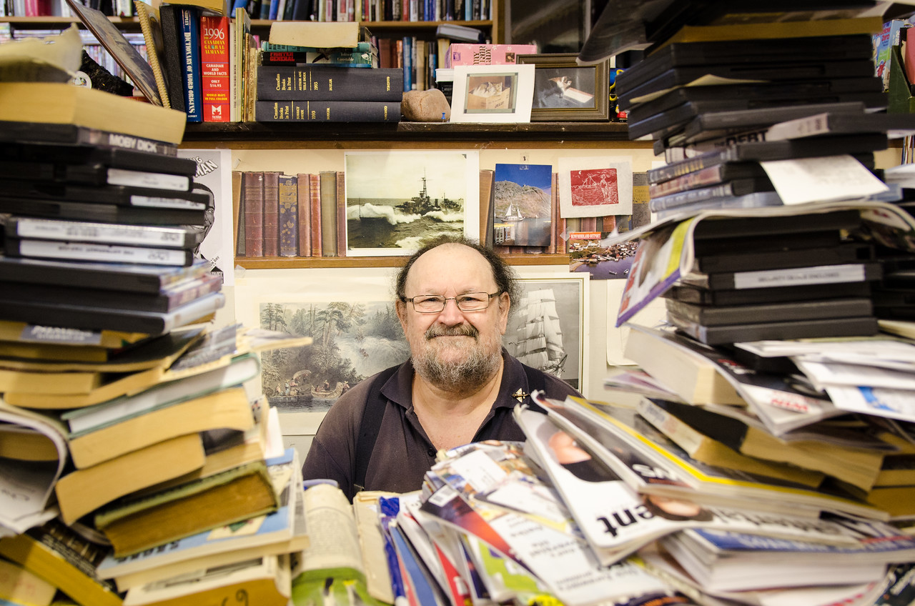Chriss Webb, the proprietor of Elizabeth's Books.