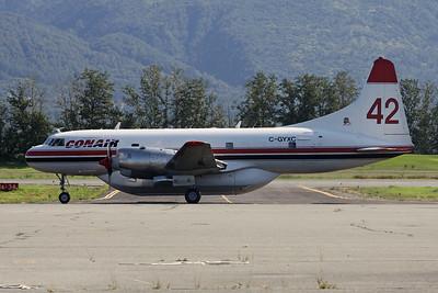 """C-GYXC (42) Convair 580 """"Conair Aviation"""" c/n 507 Palmer/PAAQ 08-08-19"""