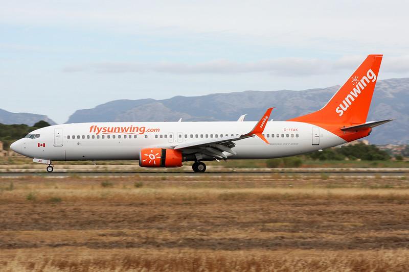 "C-FEAK Boeing 737-86Q ""Sunwing Airlines"" c/n 30292 Palma/LEPA/PMI 16-06-16"