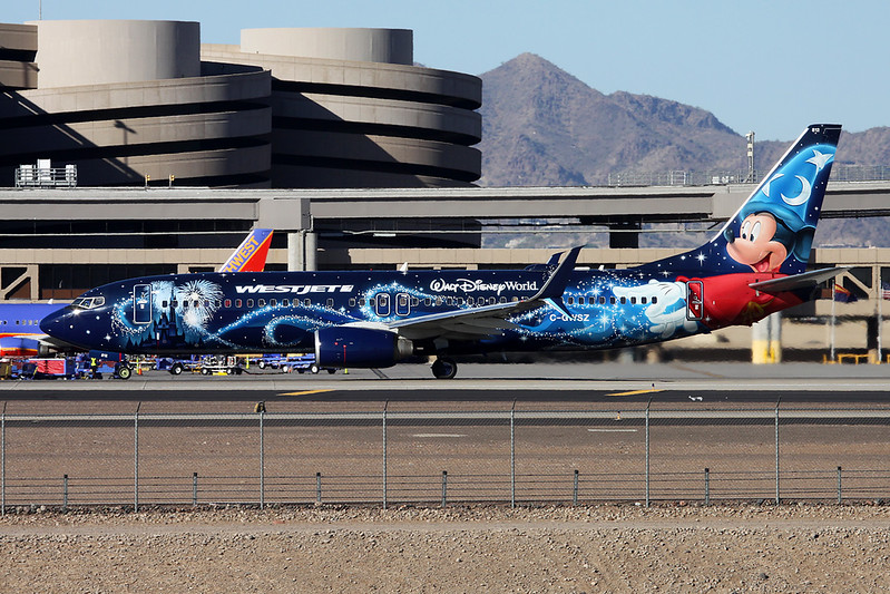 "C-GWSZ Boeing 737-8CT c/n 37092 Phoenix-Sky Harbor/KPHX/PHX 17-11-16 ""Walt Disney World"""