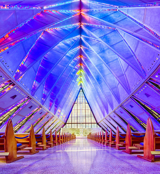 The Air Force Academy Cadet Chapel Front