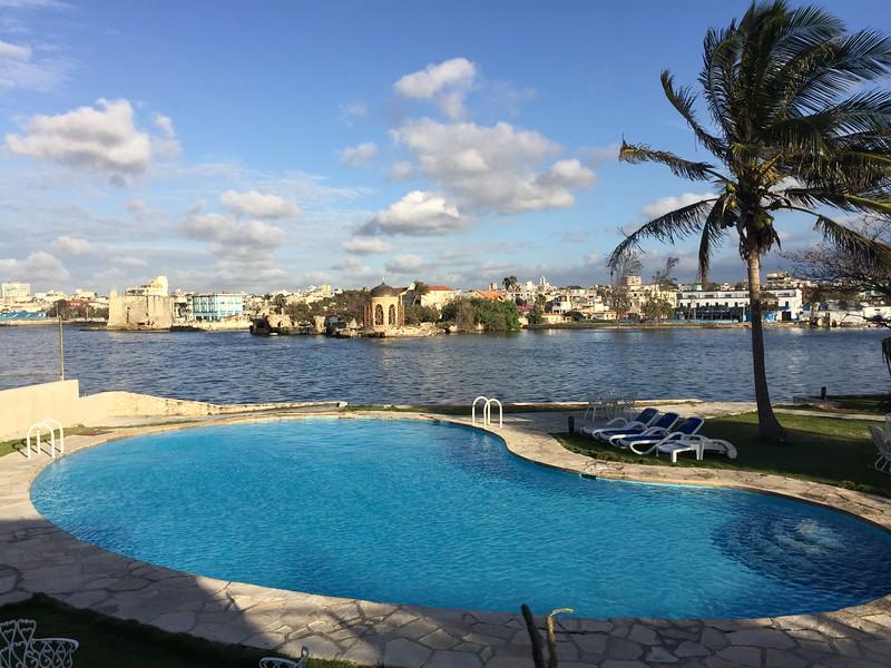 Swimming pool (salt water) behind our B&B, Havana.
