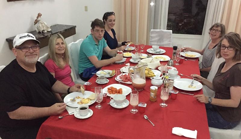 Breakfast at our B&B, Havana.