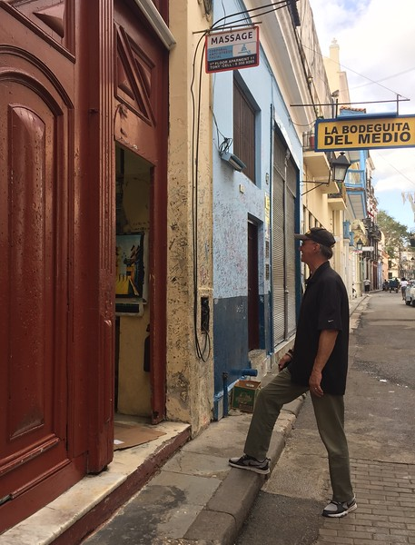 No, Larry did NOT go in for a massage.<br /> Del Medio was supposedly Ernest Hemingway's favorite drinking place.