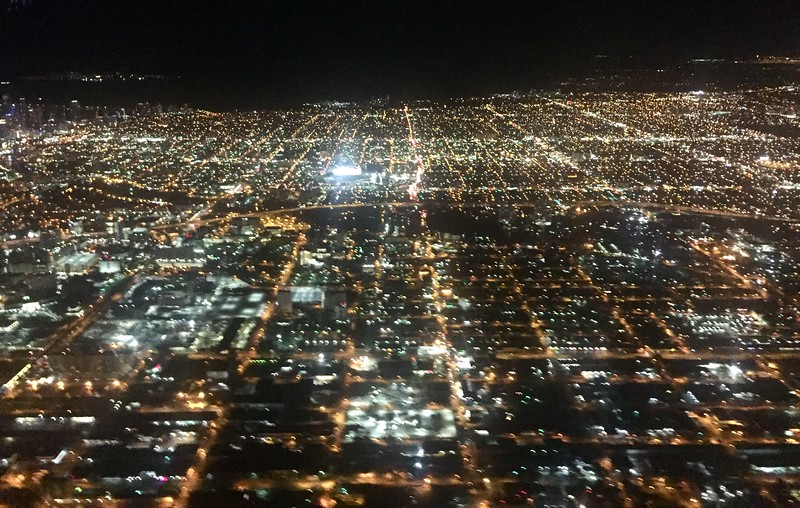Take off over Miami, bound for LAX