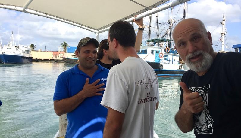 Boarding boat, El Sol, for 5-hour trip to our Avalon Dive Resort in Jardines de la Reina.