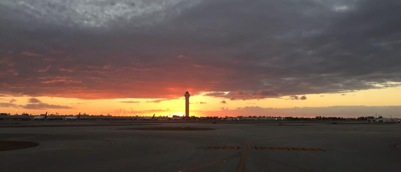 Sunset at Miami Airport