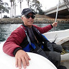Jim Rosenberg enjoys the ride out of Mission Bay<br /> May 4, 2019
