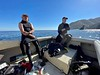 Jim McKeeman and Bart talk with Fish and Game Wardens<br /> Willow Cove, Catalina, California<br /> January 9, 2021