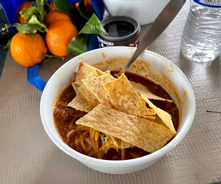 Great chili, cooked up by Bart.<br /> The Giant Stride<br /> January 2, 2021