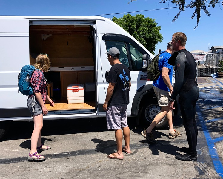 BioBlitz: Jessica, James & Shawn loading up the van<br /> August 27, 2019