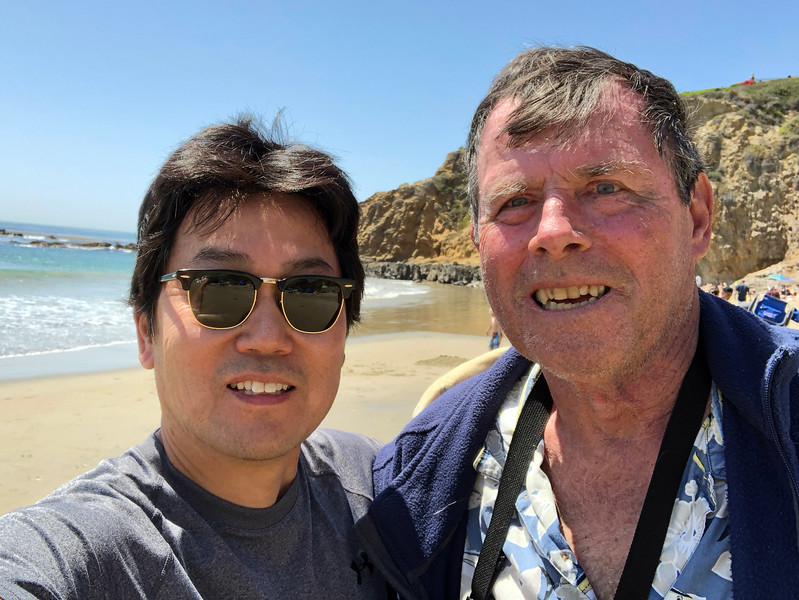 Dr. Bill Bushing & Kevin Lee,, Crescent Bay, Laguna Beach, California<br /> April 14, 2018