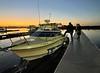 Walter boards the Sly Foxx<br /> Huntington Harbor, California<br /> January 9, 2021