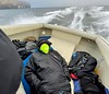 Walter Marti sleeping on the job.<br /> Catalina Channel, California<br /> January 9, 2021