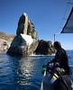 Phil Garner ogles Eagle Rock, Catalina Island, California<br /> Giant Stride