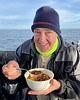 Walter Marti enjoying some good chili, thanks to Bart.<br /> The Giant Stride<br /> January 2, 2021