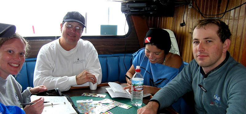Cindy F., Steve V. Krista (?) and ?<br /> San Clemente