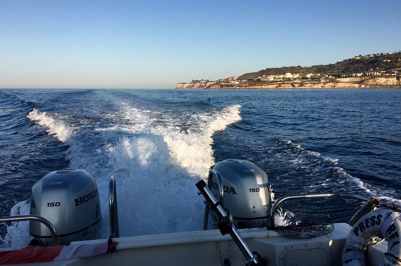 No Pressure, motoring along Palos Verdes coastline