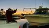 Jim McKeeman gives a thumbs up to Walt<br /> Huntington Harbor, California<br /> January 9, 2021