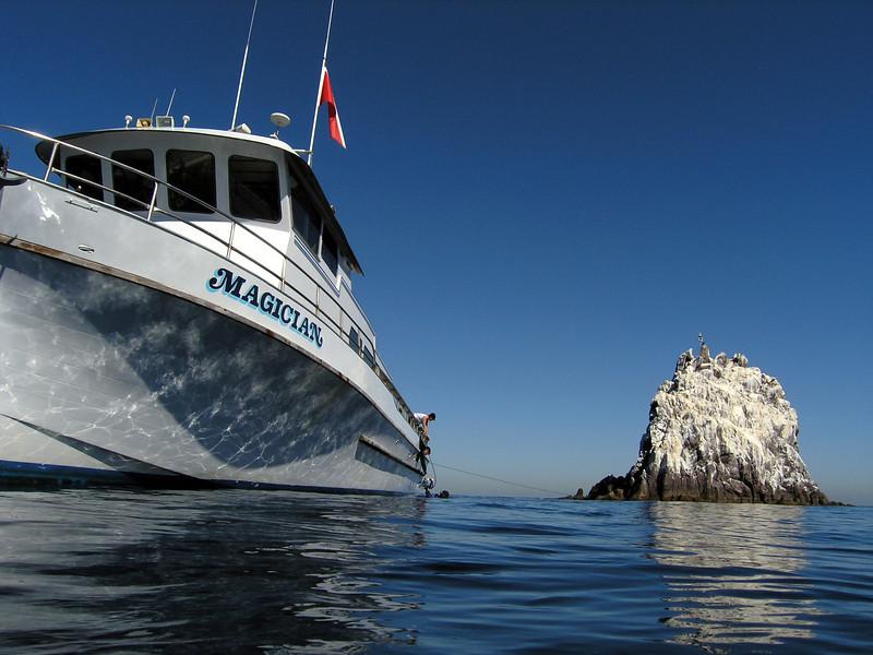 Magician by Ship Rock<br /> Catalina Island