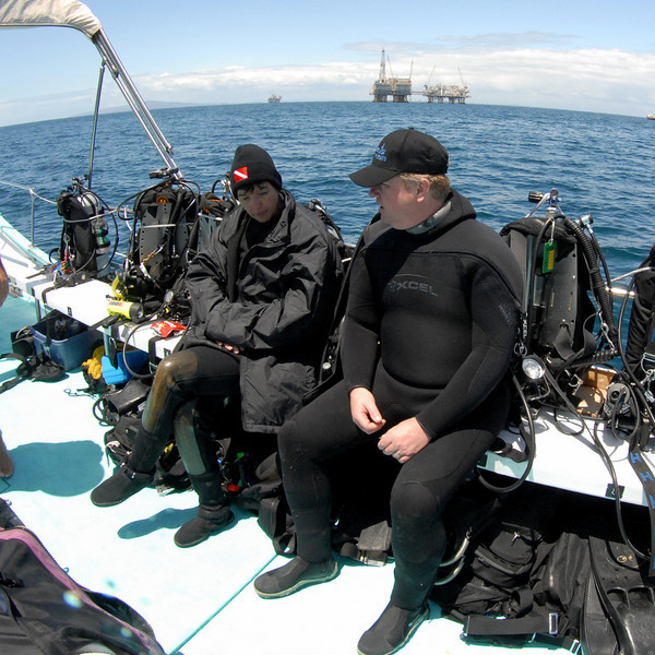 Mike Bartick & Linda B.<br /> Oil Rigs, Catalina Channel