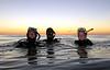 Debbie K., Nate & Aaron S.<br /> La Jolla Shores, twilight dive