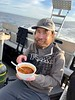 Aaron Halstead enjoying some good chili, thanks to Bart.<br /> The Giant Stride<br /> January 2, 2021