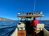 Jim McKeeman, captain, and Bart anchoring in Willow Cove<br /> Catalina Island, California<br /> January 9, 2021