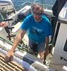 Captain Phil, gassing up No Pressure<br /> San Pedro, California