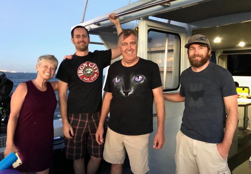 Deb, ? , Walt, & Aaron<br /> Giant Stride<br /> August 29, 2018
