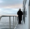 Jeff Reeb watching the sunrise<br /> San Pedro Harbor<br /> December 12, 2020
