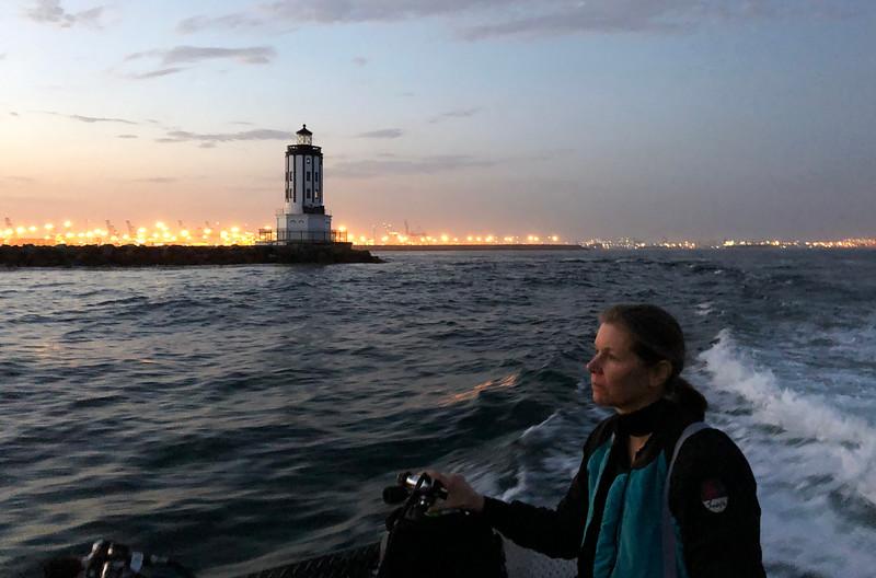 Nannette Van Antwerp<br /> Black Water (night) dive, off Palos Verdes, California