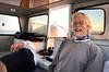 Captain Jim Simmerman with slumbering first mate, Jeff