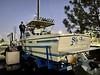 Walter on the bow of Sly Foxx<br /> Huntington Harbor, California<br /> January 9, 2021