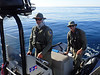 DFW officers check us out<br /> West End, Catalina Island, California