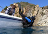Rick C. & Bob<br /> Catalina Island, California