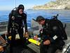 Jim & Jeff preparing to retrieve a fouled anchor<br /> Giant Stride<br /> Farnsworth
