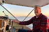 Jim McKeeman, captain, deftly navigating back to Huntington Harbor, from Catalina Channel, California<br /> January 9, 2021