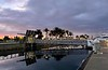 Dawn over Cabrillo Way Marina, with a King Tide<br /> December 12, 2020