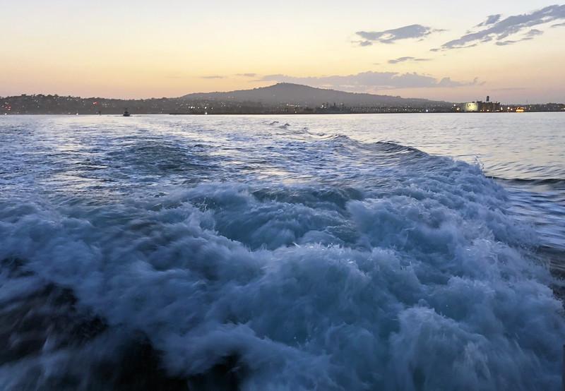 Departing LA Harbor<br /> For Black Water (night) dive, off Palos Verdes, California