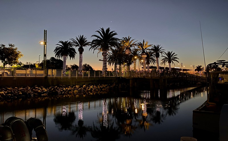Dawn over Cabrillo Way Marina, San Pedro, California<br /> November 29, 2020