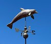 Dolphin weathervane<br /> Stearns Wharf, Santa Barbara, California<br /> July 19, 2020