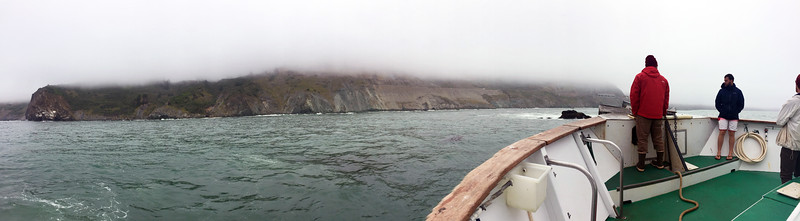 Anchored off the coast of Big Sur