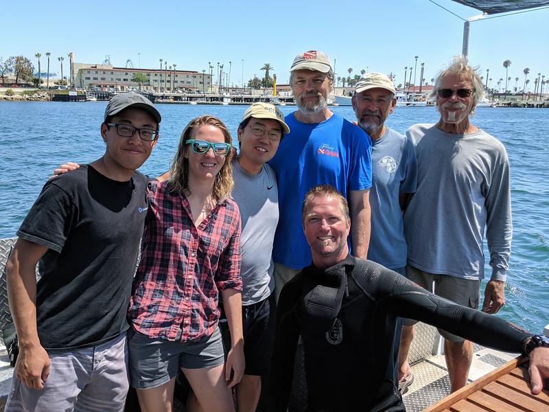 BioBlitz: Back L-R: James, Jessica, Kevin, Greg, Gustov, Jim<br /> Front: Shawn<br /> August 27, 2019