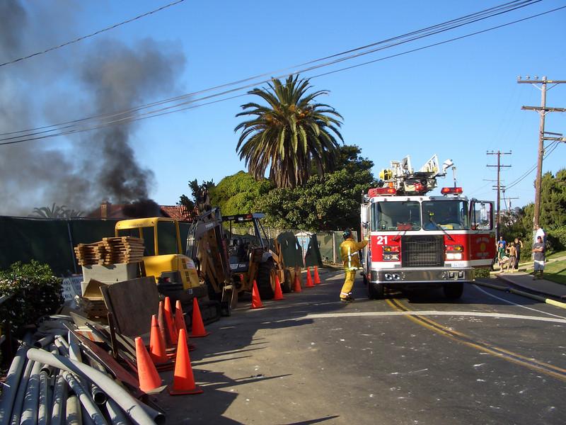 Fire @ LJS 4; August 26, 2005<br /> La Jolla Shores, California