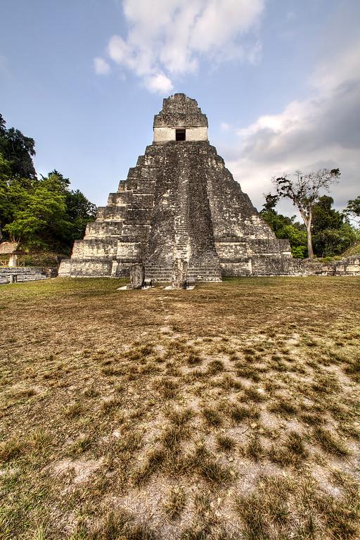 Mayan temple in Tikal Guatemala